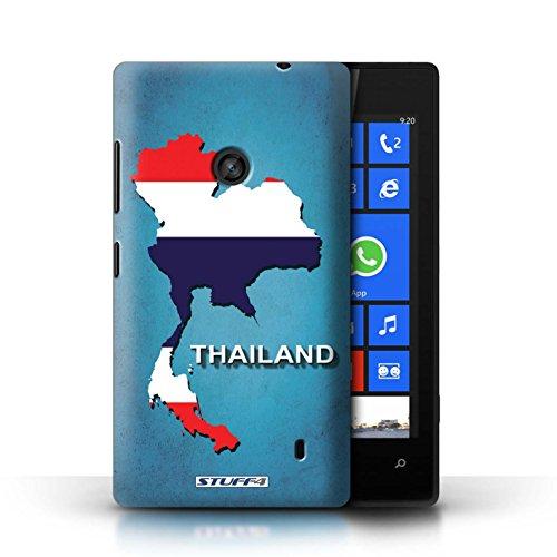 Kobalt® Imprimé Etui / Coque pour Nokia Lumia 520 / Irlande/irlandaise conception / Série Drapeau Pays Thaïlande/Thai