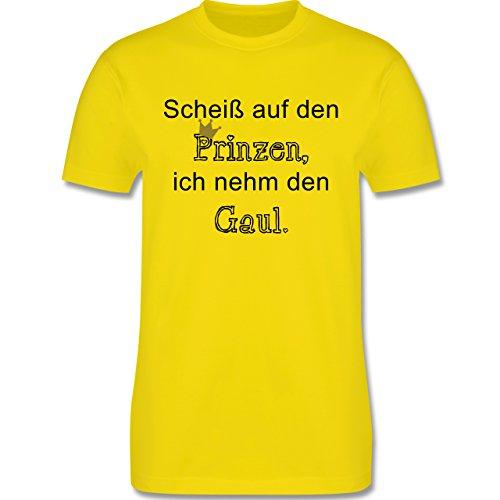 Statement Shirts - Scheiß auf den Prinzen, ich nehm den Gaul - Herren Premium T-Shirt Lemon Gelb