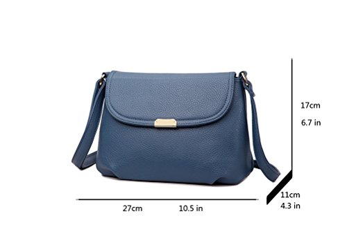 Honeymall Borsa a tracolla in pelle pochette Donne Moda Borsa Borsa borsetta borsa del Tote del Hobo Messenger Nero Blu