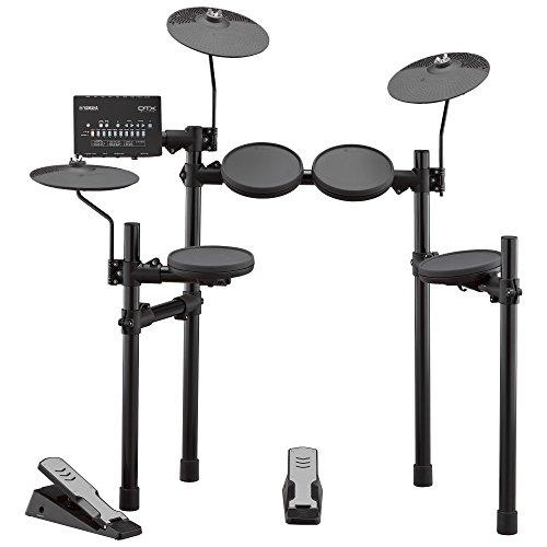 Yamaha DTX402K elektronisches Schlagzeug schwarz - Komplettes E-Drum-Set mit 415 professionellen Sounds - 10 Drum Kits