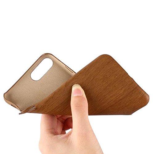 Cuitan PU Leder Holz Textur Muster Weiche Hülle Schutzhülle für Apple iPhone 5 / 5S / SE, Samtig Innen Ultra Slim Rück Abdeckung Back Cover Case Rückseite Tasche Handytasche Handyhülle für iPhone 5 /  Dunkles Holz