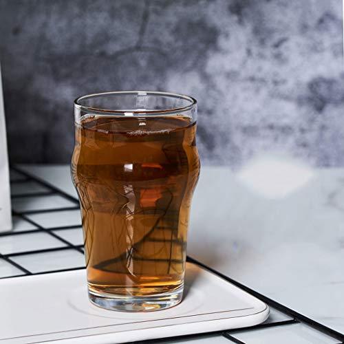 RyanBm Bierkrüge Europäischen und Amerikanischen Biergläser Stil Bier Tasse Sommer Kühle Erfahrung Geschenk Krug 290 ML (11,5 * 6,5 cm) (2 Paket)
