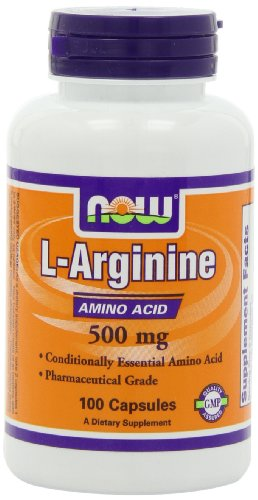L-arginine 500 mg - 100 gelules - Now foods