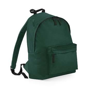 Ideal School Travel Work 2 Pocket Backpack Rucksack Bag Bottle Green