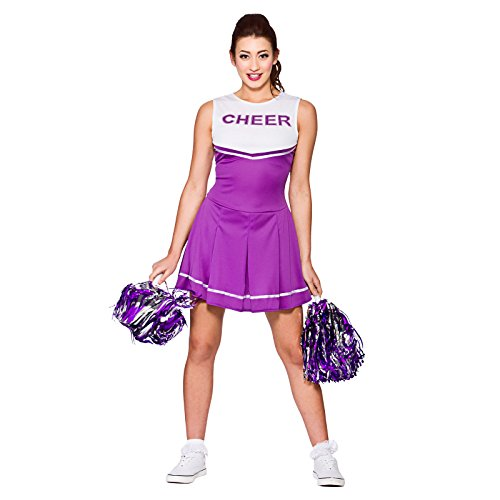 heerleader Purple Fancy Dress Up Party Costume Halloween (Halloween High School Kostüm Ideen)
