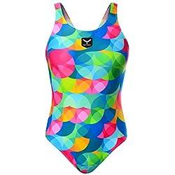 Taymory Color Dots SW32D Bañador Tirante Ancho, Mujer, Multicolor, XL