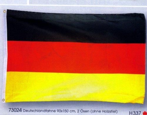Wetterfeste Flagge Fahne : Deutschland 90x60 cm