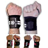 Bear Grip - High quality Premium weight lifting wrist support wraps, secure special velcro design (Sold in pairs)