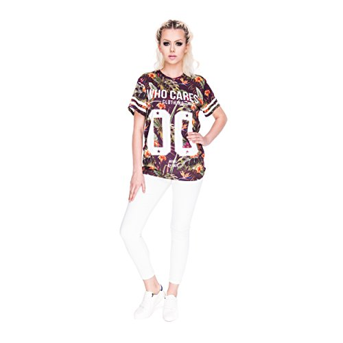 Who Cares oversize T-shirt Fullprint One Size PURPLE PARADISE