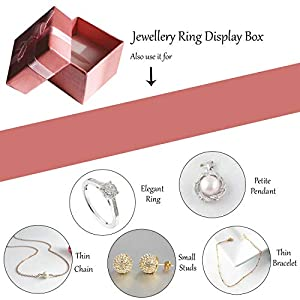 Confezione da 24 Scatole Regalo Esposizione Gioielli Anelli con Inserti Velluto da Kurtzy - Scatole Presentazione 3.8 x 2.8 cm - Design Arco e Nastro - Inserti Scanalati per Anelli e Orecchini