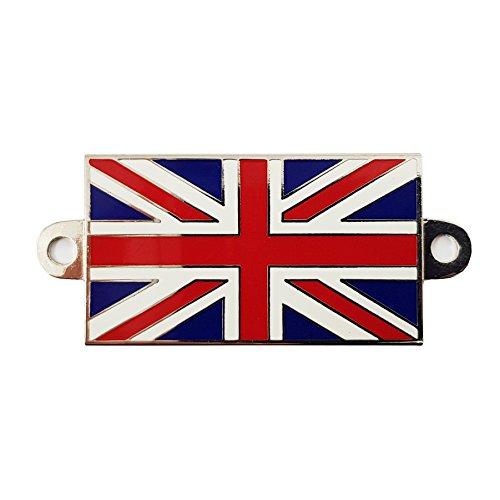 Union Jack Metall Badge mit Schraublöchern für Boote, Classic Cars, Motorräder