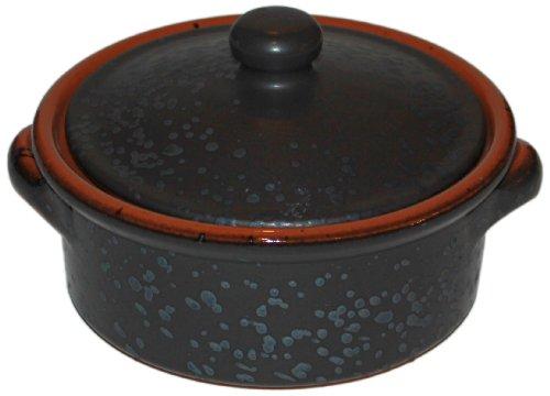 Amazing Cookware Cocotte en terre cuite avec couvercle Gris 1l