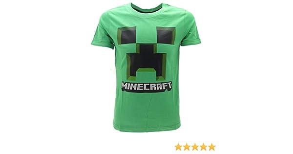 Global Brands Group T-Shirt Minecraft Originale Creeper Verde Maglia Maglietta Videogioco Videogames Ufficiale