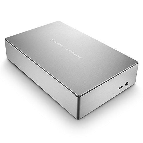 LaCie Porsche Design Desktop Drive 8 TB, externe Festplatte, 3.5 Zoll, USB 3.0, USB 3.1, USB-C, platin - STFE8000200