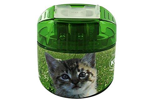 KUM AZ341.04.19-K Doppel-Behälterspiter Ovg M2 Animals aus Magnesium, 1 Stück, Motiv Katze