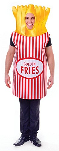 French Fries Chips Unisex Fancy Dress Costume - One Size