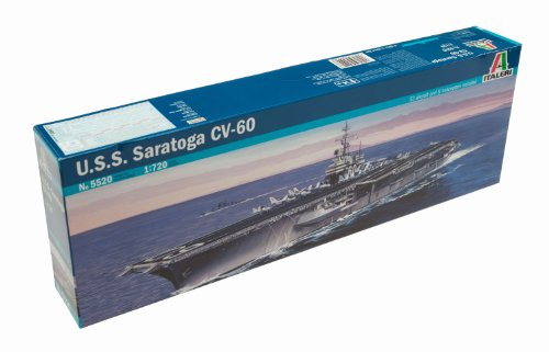 Imagen principal de Italeri 5520S USS Saratoga CV-60 - Maqueta de barco portaaviones (escala 1:700)