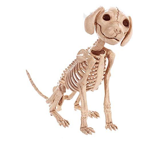 SLH Halloween Dekorationen Simulation Tier Skelett Hund Skeleton Knochen Bar Filme Spukhaus (Hund Skelett Halloween Dekoration)