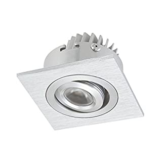 Alico Industries WLE601C32K-0-98 LED Squared 1-Light Recessed Directional Unit, Brushed Aluminum Finish by Alico Industries