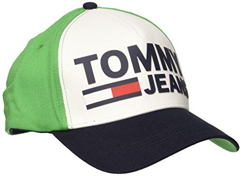 Tommy Jeans Unisex Baseball Tju Printed BB Cap M, Grün (Green/White 902), One Size (Herstellergröße: OS)