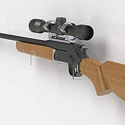 Plexico - Support acrylique transparent pour fusil - Support de mousquet - Support mural pour fusil, claire