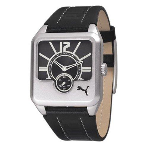 Puma Time - Reloj analógico de cuarzo para mujer con correa de metal, color negro