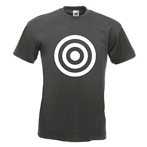 KIWISTAR - Bullseye Zielscheibe RAF T-Shirt in 15 verschiedenen Farben - Herren Funshirt bedruckt Design Sprüche Spruch Motive Oberteil Baumwolle Print Größe S M L XL XXL Graphit