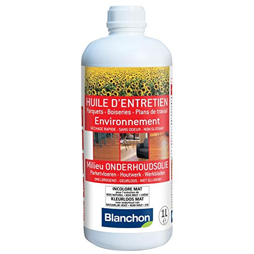 BLANCHON - Huile d'entretien parquet ''environnement'' incolore mat 1 litre -...