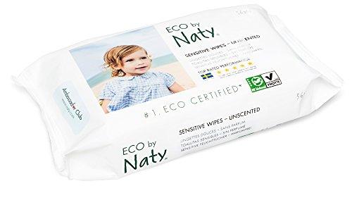 Naty by Nature Babycare Öko Feuchttücher Unparfümiert, 12er Pack (12 x 56 Stück) - 5