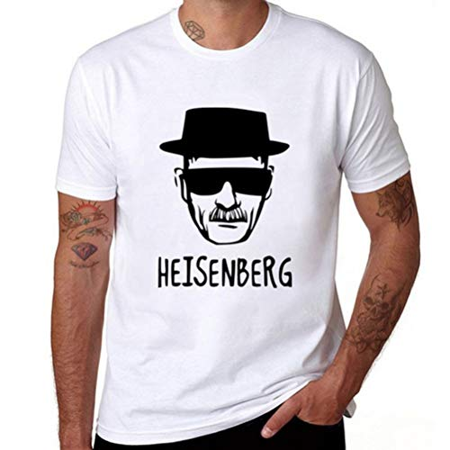 Q Breaking Bad Heisenberg Herren Fashion Print T-Shirt Kurzarm Bluse Tank Tops Q - Weiß - XX-Large