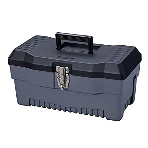 Stack-On PB-16 16-Inch Multi-Purpose Tool Box, Black/Gray by Stack-On