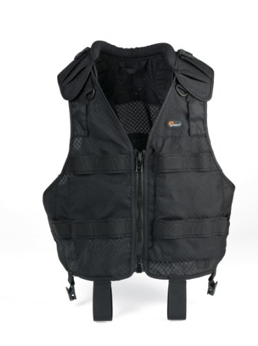 Lowepro S&F Technical Vest - Chaleco para fotógrafos (600 g), color negro