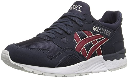 Asics Gel-Lyte V GS Leder Laufschuh India Ink/Burgundy