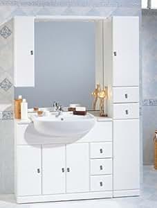 Mobile arredo bagno cleo cm 100 30 con lavabo semincasso colonna e specchio mobili - Colonna bagno mercatone uno ...