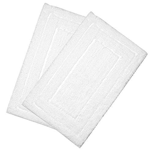 U'artlines set di 2tappetino da bagno super morbido tappetino da bagno in microfibra lavabile tappeto da 50e 80cm di grigio (2pezzi, bianco)
