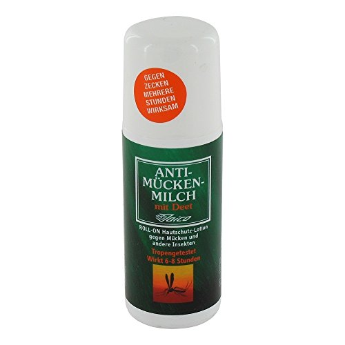 Jaico Unisex– Erwachsene Anti-Mücken-Milch Roll-On, Transparent, 50 ml