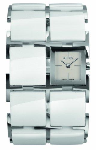 Alfex - 5686_770 - Montre Femme - Quartz Analogique - Cadran Blanc - Bracelet Résine Blanc