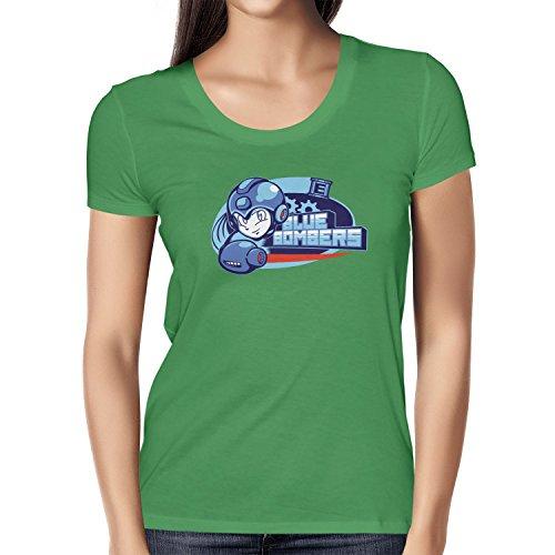 TEXLAB - Blue Bombers - Damen T-Shirt, Größe XL, grün