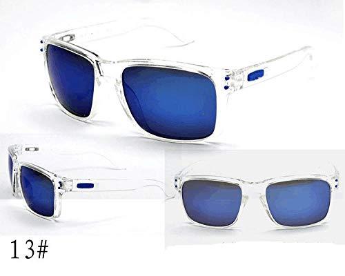 Fashion Style bySports Sonnenbrille Europäische und amerikanische Explosionen Eiche Reitbrille Schutzbrille SonnenbrilleSchwarzer Rahmen graues Stück rotes Zubehör -