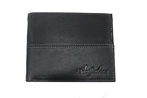 Portafogli uomo Australian L.Salina mod.con portacarte asportabile 04 nero