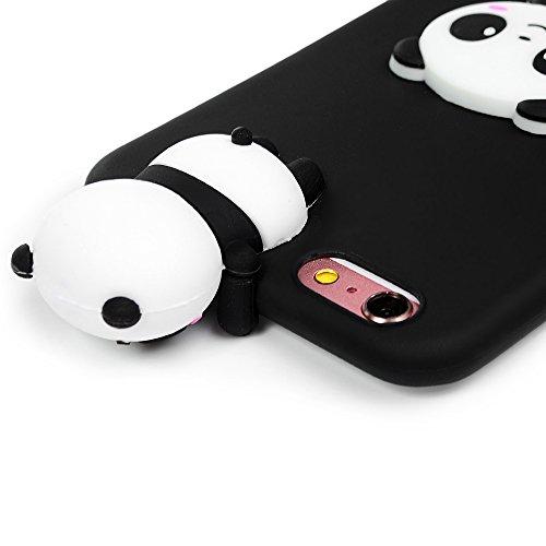 Coque iPhone 6 / iPhone 6S Mavis's Diary Étui Housse de Protection TPU Silicone Gel Souple 3D Bumper Phone Case Cover Protection écran Swag Pour iPhone 6 / 6S 4.7'' + Chiffon - Licorne Panda noir
