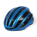 XIAOFENG-R Leggero Regolabile Casco Casco Bici da Strada Bicicletta Casco for Gli Uomini Le Donne Gli Accessori Casco Gara di Mountain Bike Protezione di Sicurezza (Color : Blue, Size : 54 60cm)