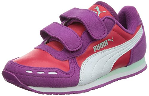 Puma Cabana Racer SL V Kids, Unisex-Kinder Sneakers, Violett (vivid viola-geranium-white 32), 28 EU (10 Kinder UK) (Puma Kids Form)
