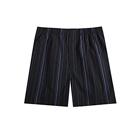 Pau1Hami1ton B-01 Herren Baumwolle BoxerShorts Karo Woven Boxer Shorts Unsichtbar Elastische Taille Unterhose Unterwäsche,1 Packung, 44 (Mens Classics Woven Boxer)