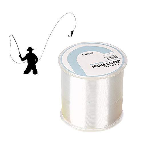 JOJYO Nylon-Angelschnur, 500m 0,16mm Monofile Angelschnur Geflochtene Schnüre Perlonfaden Unsichtbares Faden Knotenfestigkeitn Abriebfestigkeit für Angelschnur Bead String Hängende Ornamente