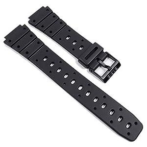 Casio Uhrenarmband | Band schwarz Resin für SDB- 500 | TS-100 | TS-200