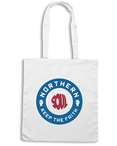 T-Shirtshock - Borsa Shopping WC0523 Northern Soul 2 Bianco
