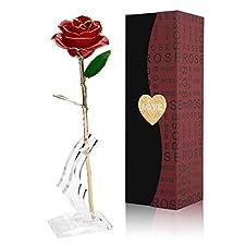 Eigenschaften:  Diese Rose ist vergoldet, nie verblassen, um für immer zu bewahren, genau wie Ihre dauerhafte Liebe für sie. Jede vergoldete Rose ist anders, mehr wie ein Stück einzigartiger Kunst auf der Welt elegante Rose mit schöner Verpackung mac...