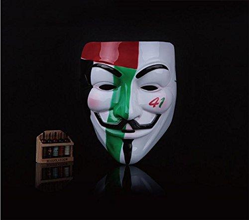 VintageⅢ Die Guy Fawkes Fancy Maske Cosplay Maske Maske V für Vendetta Party Anonym Kleid Erwachsenen Kostüm Zubehör Halloween Maske (Vendetta Kleid V For)