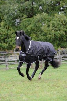 BUCAS Outdoor Pferdedecke SMARTEX RAIN, schwarz, 135